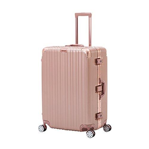 ORKAN AL frame design hard shell luggage Carry OnSuitcase 4 wheels/light weight/TSA Lock (20 inch, Rose Golden)