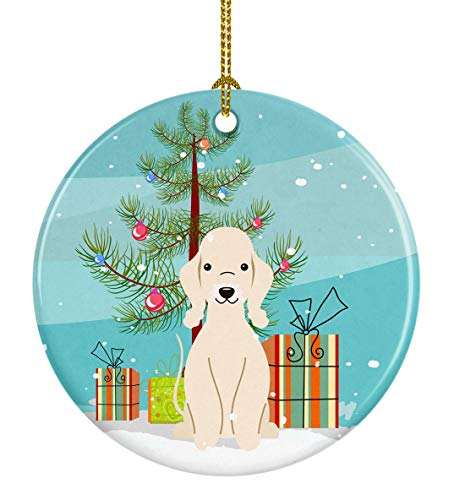 Caroline's Treasures Merry Christmas Tree Bedlington Terrier Sandy Ceramic Ornament, Multicolor ()