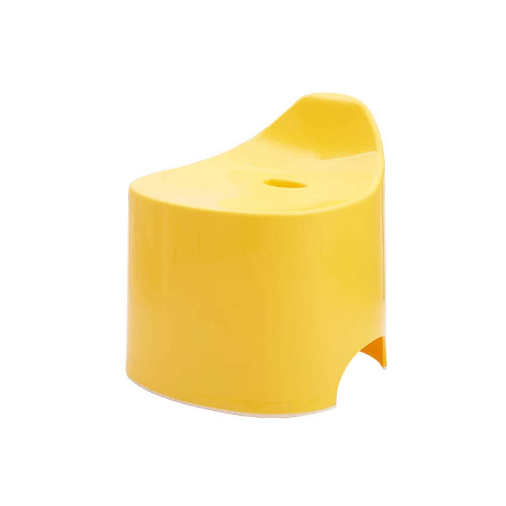 ZXL Candy Farbe Bad Kunststoff Hocker Kunststoff Bad Japanisch Verdickter Hocker Multifunktions-Haushalt Anti-Rutsch-Hocker (Farbe   Gelb) b8fe27