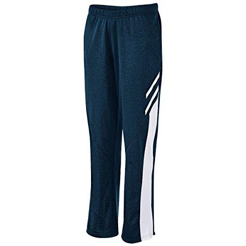 Holloway Women's Flux Straight Leg Pant, Navy Heather/White/White, - Mens Stretch Pants Mechanical Woven