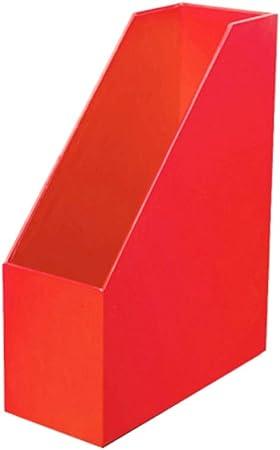 Archivadores Caja de Almacenamiento A4 Carpeta de Papel Suministros de Oficina de Escritorio Caja de papelería Dormitorio Creativo Caja de Libro de Madera de inserción Oblicua HUYP (Color : Red): Amazon.es: Hogar