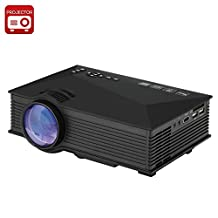 UNIC UC46 Portable Projector - LCD + LED, 800x480, 1200 Lumens, Miracast, DLNA, Airplay, SD Card, HDMI
