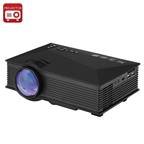 Generic UNIC UC46 Portable Projector - LCD + LED, 800x480, 1200 Lumens, Miracast, DLNA, Airplay, SD Card, HDMI