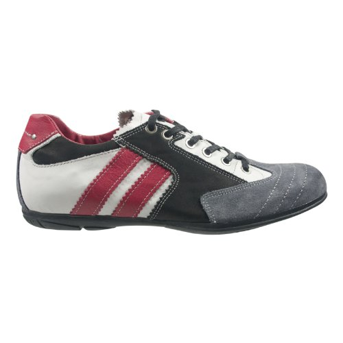 Lake Eagle 100240-50914 Herren Schuhe Premium Qualität Sneaker Grau (grau-schwarz-weiss-rot)
