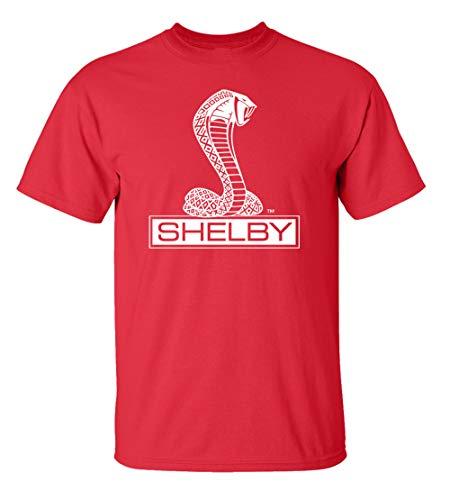 Ford Shelby Cobra Car T-Shirt Adult Men's Short Sleeve-Red-XXXL (Cobra Xxxl Shirt Ford)