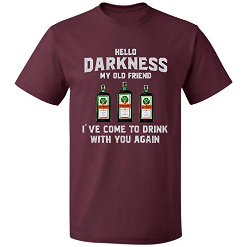 Hello Darkness My Old Friend Unisex T Shirt Jäger-Meister for Mens Womens Up to 5XL (Maroon - M)]()