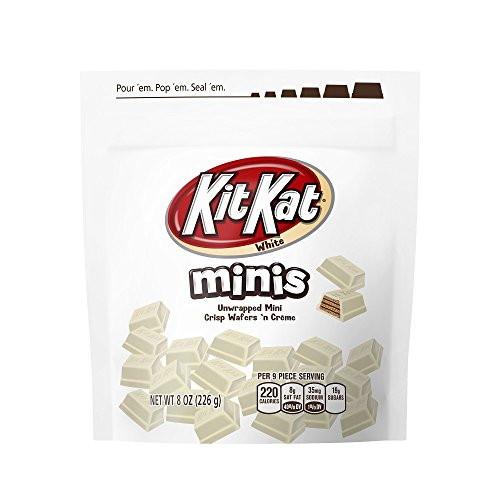 KIT KAT White Crème Candy Minis, 8 Ounce Bag (Pack of 8) ()