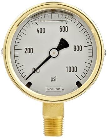"Noshok 160 PSI  2 1//2/"" Pressure Gauge"
