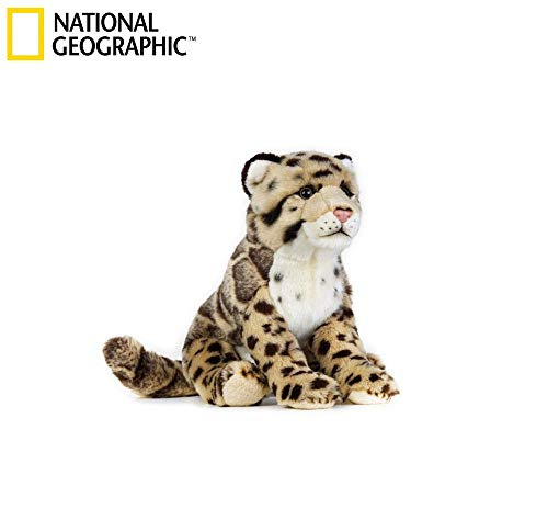 National Geographic Plush Leopard Stuffed Animal Sitting Toy Medium