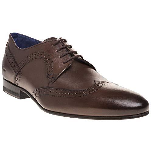 Shoe Outlet Designer - Ted Baker Men's Ollivur Leather Lace Up Formal Brogue Shoe Brown-Brown-10