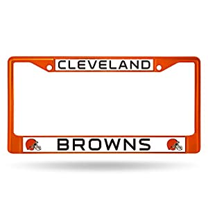 NFL Cleveland Browns Colored Chrome Plate Frame, Orange