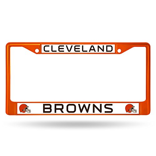 - Rico Industries NFL Cleveland Browns Colored Chrome Plate Frame, Orange