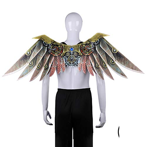Make life wonderful Fancy Dress Ball Mechanical Decoration Wings Prop Halloween Costume Party Charms Role Play Cosplay Accessory -