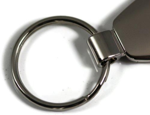 INC Au-Tomotive Gold Dodge MOPAR Logo Keychain BLACK TEARDROP Chrome Key Fob Metal Keyring Mopar