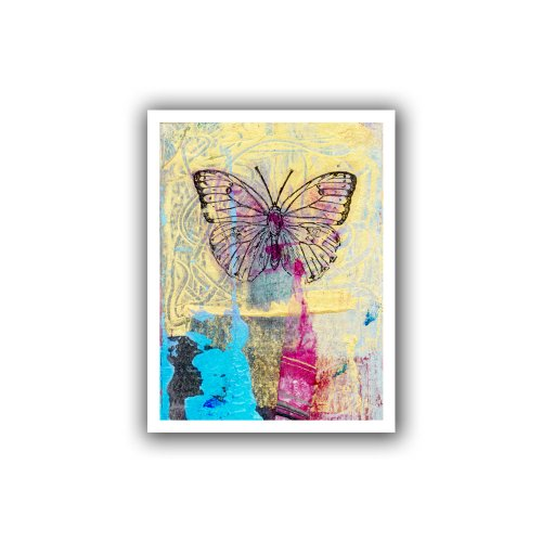 ArtWall 'Blue Square' Gallery-Wrapped Canvas Art by Elena Ray, 18 by 24-Inch
