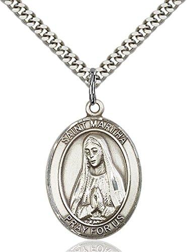 bliss Sterling Silver Saint Martha Medal Pendant, 1 ()