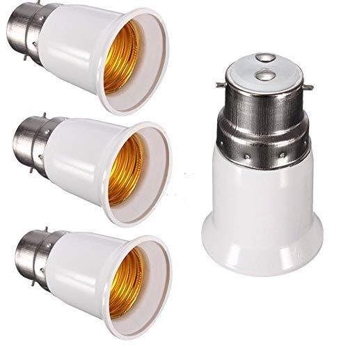 EYETECH B22 to E27 Lamp Base Led Bulb Converter Adapter Ceiling Fan Light Bulbs Socket for Bluetooth Smart Bulb,4Pcs