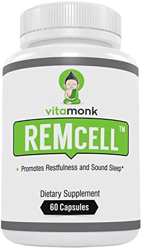 REMcell™ - Natural Sleep Aid by VitaMonk™ - Effective Sleeping Pills with Natural Ingredients for Restful Sleep with No Hangover Feeling - No Artificial Fillers