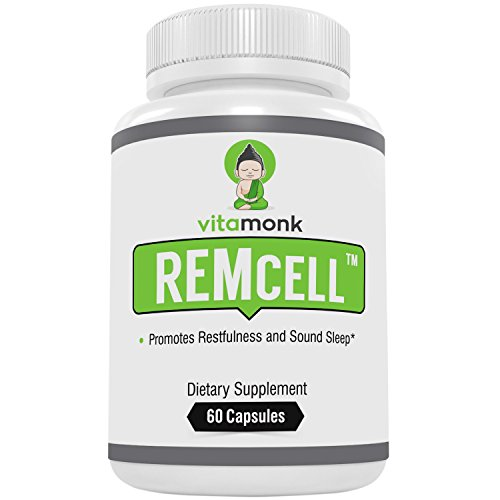 REMcellTM - #1 Trusted Natural Sleep Aid That Actually Works - by VitaMonk - Effective Sleeping Pills with Natural Ingredients for Restful Sleep with No Hangover Feeling - No Artificial Fillers