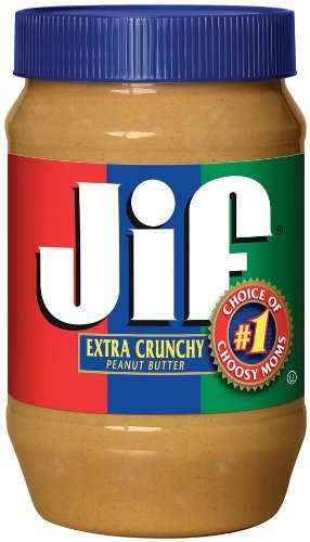 Jif Extra Crunchy Peanut Butter, 40-Ounce (Pack of 2)