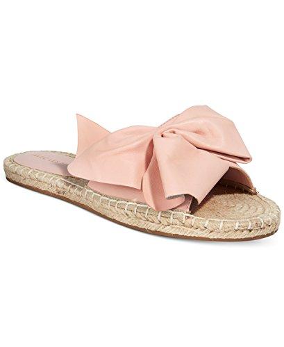 Avec Les Filles by Joyce Azria Gemma Espadrille Bow Slide (Pale Peach) Size 5.5