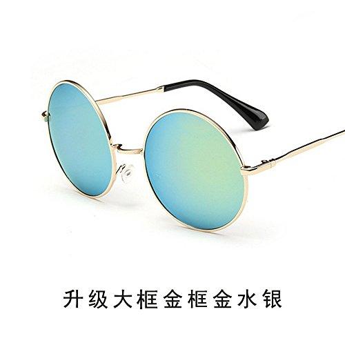 Espejo De De Oro De Sol Sol Par Gafas JUNHONGZHANG Conducir Redondas Gafas Sol Mercurio Hombre Retro del Conductor Gafas Gafas Hx104