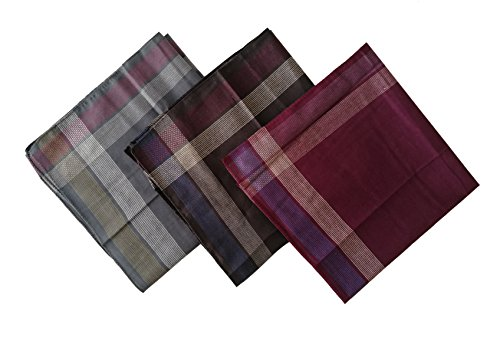 12PCS KINGREE Mens and Boys Gentleman Vintage Casual Hankie Cotton Handkerchiefs, 100% Cotton Men's Handkerchief - Hankie Childs