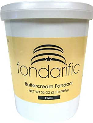 Fondarific Buttercream Fondant Black, 32 ounces