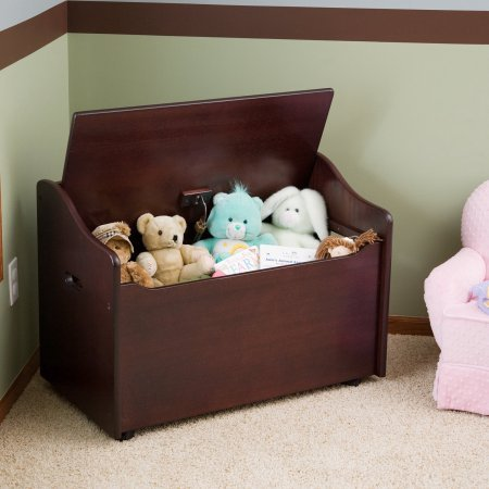 Espresso Limited Edition Toy Box, Toy Chest Keeps Room Tidy with Clear of Clutter, Helps Teach the Need of Getting Organized, Roomy Storage, Doubles as a Bench Bundle with Expert Guide for Better Life