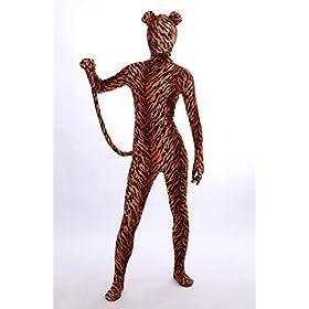 - 41wfnJjS GL - Nedal Lycra Tiger Bodysuit Halloween Cosplay Zentai Aanimal Costume For Kids