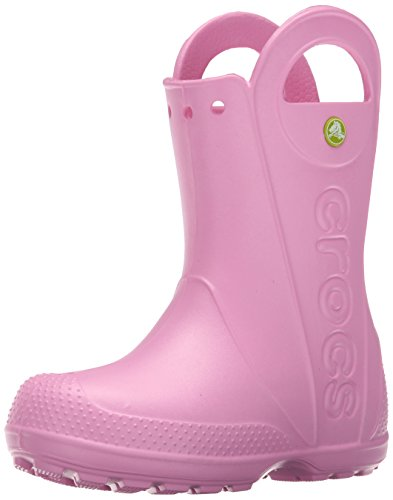crocs Handle It Kids Rainboot , Carnation, 8 M US Toddler