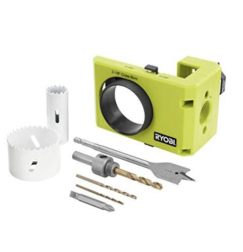 Ryobi A99DLK4 Wood and Metal Door Lock Installation Kit for Installing Deadbolts and Locksets
