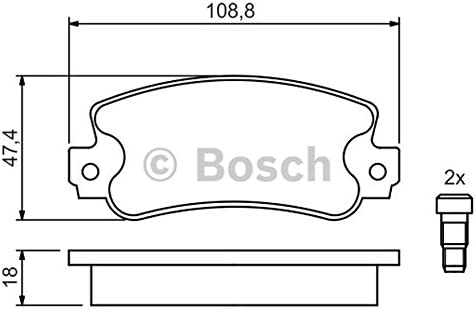Bosch 0/986/424/098/4/X Pastiglie Freno Anteriore