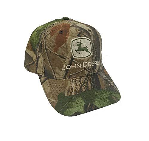 John Deere Logo Camo Cap with Realtree Hardwoods Camo