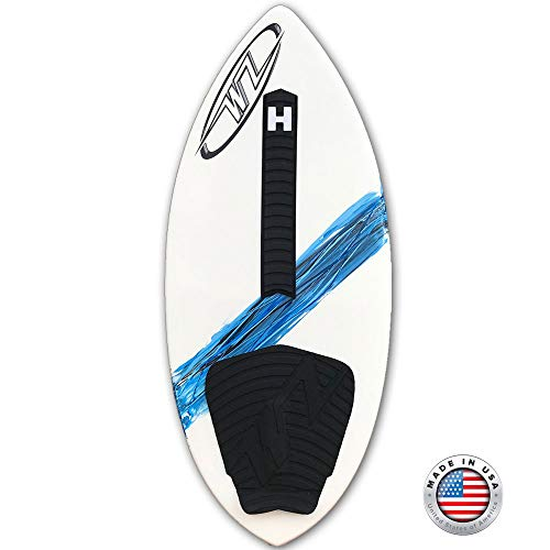 "Wave Zone SE Carbon & Fiberglass Skimboard - 48"" - Riders Up to 200 lbs - Complete with Traction Deck Grip (Blue 48"" Board)"