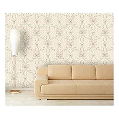 Large Wall Mural - Lace Style Seamless Pattern   Self-Adhesive Vinyl Wallpaper/Removable Modern Decorating Wall Art - 66