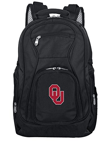 Denco NCAA Oklahoma Sooners Voyager Laptop Backpack, 19-inches, Black