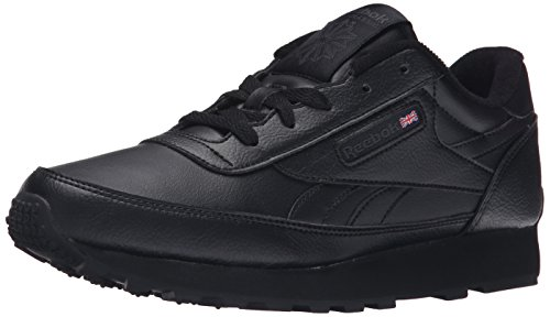 Reebok Women's Classic Renaissance Sneaker, black/dark heather grey/solid grey, 10.5 4E US