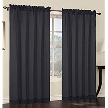 urbanest 54 inch wide by 96 inch long faux linen sheer set of 2 curtain panels. Black Bedroom Furniture Sets. Home Design Ideas