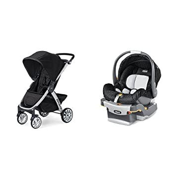 Chicco Bravo Stroller KeyFit Infant Car Seat In Ombra