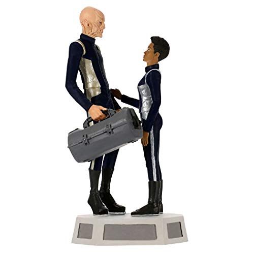 Hallmark Keepsake Christmas Ornament 2019 Year Dated Star Trek: Discovery Commander Saru and Michael Burnham with Sound,