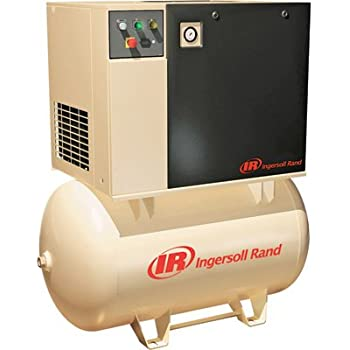 Ingersoll Rand Rotary Screw Compressor - 230 Volts, Single Phase, 5 HP, 18.5 CFM, Model# UP6-5-125