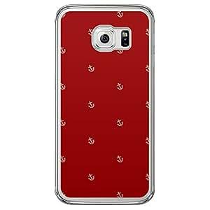 Loud Universe Samsung Galaxy S6 Edge Nautical Nautical 8 Printed Transparent Edge Case - Red