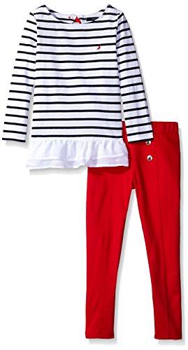 Nautica Girls Striped Fashion Leggings