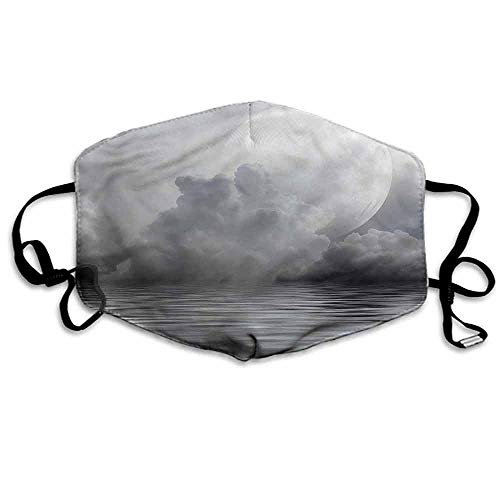 Moon Dust Mouth Mask Misty Air and Ocean Art for Men and Women W4