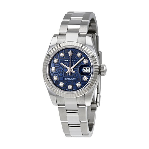 Rolex Lady Datejust 26 Blue Jubilee Dial Stainless Steel Rolex Oyster Automatic Watch 179174BLJDO