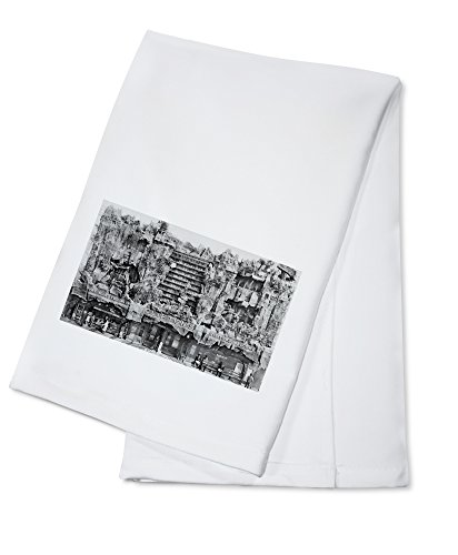 Los Angeles, CA View of Clifton's Pacific Seas Photograph (100% Cotton Kitchen Towel)