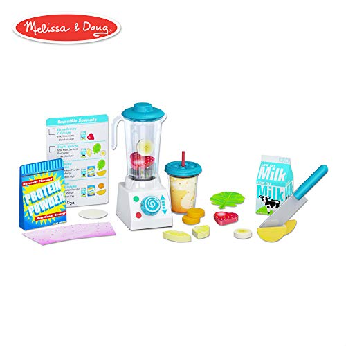 Melissa & Doug Smoothie Maker Blender Set (Helps Develop Motor and Social Skills, 24 Pieces)