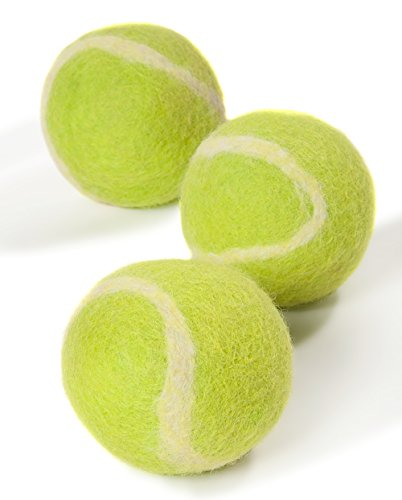 Cheap Twin Critters TennisWools – All Natural Tennis Balls For Dogs – 3 Pack – 100% merino wool (Yellow Green)