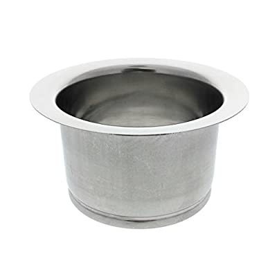 Kitchen Extended Sink Flange, Deep Polished Stainless Steel Flange For Insinkerator Garbage Disposals And Other Disposers That Use A 3 Bolt Mount and A Thicker Sink, By Essential Values